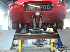Polished big bore system fitted by us to customers beautifully restored series 1  4.2 2+2. - click to enlarge